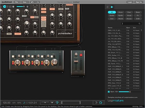 Audiotool - семплер Audiotrack