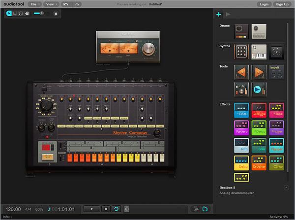 Audiotool - инструмент для создания музыки онлайн